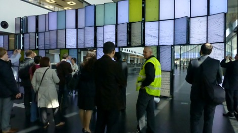 Video wall at Vienna International Airport, April 2012 (Source: Anna Harrison)
